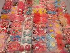 Lot 15pair Assorted acrylic Elastic Hair Band Pin Tie Clip bling Kawaii v3