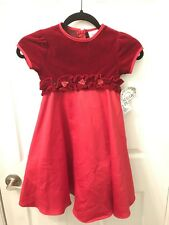 Sugar Plum Girls size 5 Holiday Christmas dress Red Velvet New With Tags
