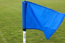 Set of four OTTOPT foldable BLUE corner flags with posts, spike and carry bag