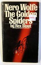 Rex Stout Nero Wolfe Mystery #22 - The Golden Spiders (1975 Vint Bantam Pb)