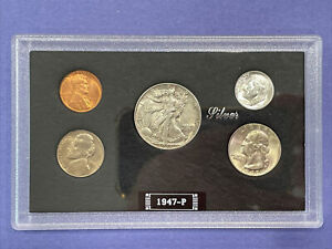 1947-P U.S. Mint Coin Set Genuine Government Case! Nice 90% Silver Investment!