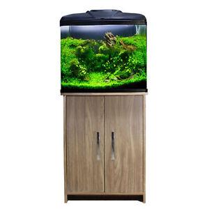 Aquarium Fish Tank Aqua One AquaVue 580 with Arizona Grey Cabinet LED Lights 75L