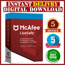 McAfee Liveafe 2020 ✅ 5 Devices, 5 Year înstant Delivery 🔥