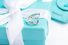 Tiffany & Co. ELSA PERETTI Sterling Silver Open Heart Ring Size 6 w/ Packaging