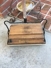 Antique Bissell's Early 1900s Universal Wooden Cyco Bearing Sweeper Complete
