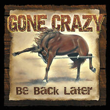 Wild Wings - Gone Crazy Wild Horse Wood Sign