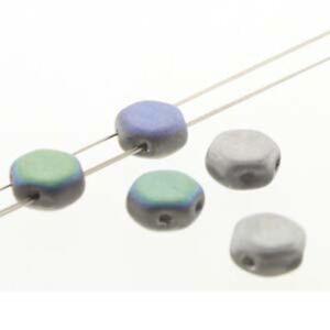 30 loose beads 6mm 2-Hole Czech Glass Honeycomb Beads 97 colors Two Holes U-Pick