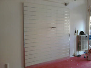 Pannello Dogato NUOVO cm 120x240H bianco o acero per cabine armadio e negozi