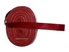 Akkordeon Kaliko - Balgeinfassungsstreifen glatt in rot-dunkel, Breite 24mm