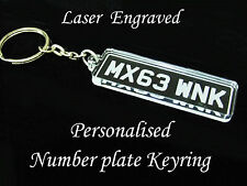 Personalised Number Plate Keyring - Laser cut and engraved