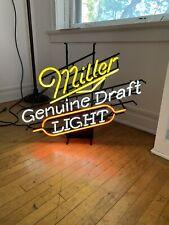 Miller Genuine Draft Mgd Neon Lighted Beer Bar Pub Tavern Sign