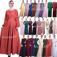 Kaftan Abaya Dubai Muslim Women Maxi Dress Long Party Gown Islamic Jilbab Caftan