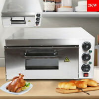 2KW Electric Pizza Oven Stainless Steel Ceramic Oven Independent-Tem-Control US