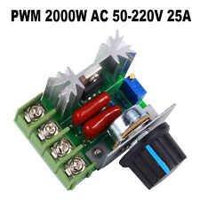 PWM Einstellbare 2000W AC 50-220V 25A RC Drehzahlregler Motor Speed Controller