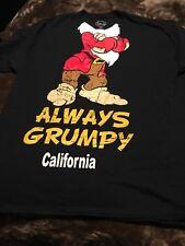 23d9bfe38 Disney Shirt ALWAYS GRUMPY 7 Dwarfs XL Headless BLACK T-SHIRT Men's Crewneck