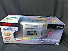 NEW RCA FM Stereo Radio Cassette Tape-Deck Portable Boom Box RP7712S Silver