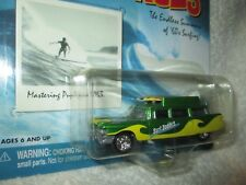 59 cadillac hearse w/ surfboards surf rods Surf Daddies 1/64 Johnny LIGHTNING