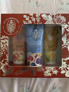 LA FLORENTINA 3 Luxury Hand Creams/Gift Box 2.5 oz each NIB SEALED