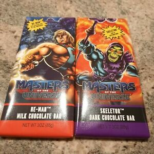 Masters of the Universe He-man Skeletor Chocolate Bars Rare Exclusive