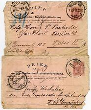 Autriche Express Lettre Papeterie pneumatique bref... 2 objets