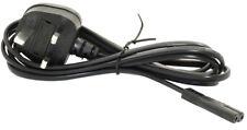 Value Mains Power Cable UK Plug to IEC C7 Fig.8 Female 2m Black