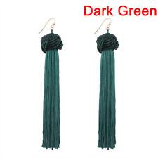 Women Bohemian Fringe Boho Long Tassel Hook Drop Dangle Earrings Jewelry FT