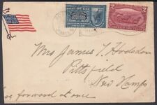 1898-H-67 US OCCUPATION ANTILLES 1898 SPECIAL DELIVERY PATRIOTIC COVER BOSTON