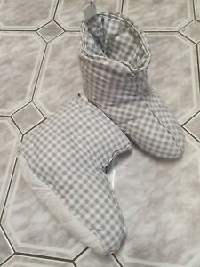 UK 3-8 TENT SLIPPERS Camping Duvet Boots Soft Warm