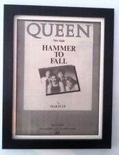 QUEEN*Hammer To Fall*1984*ORIGINAL*POSTER*AD*FRAMED*FAST WORLD SHIP