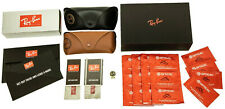 Ray Ban Black, Brown Leather Cases Only with Booklets, Cleaning Cloths, Gift Box