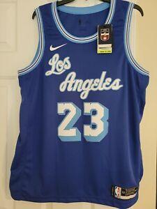 100% Authentic Los Angeles Lakers LeBron James Hardwood Classic Swingman Jersey