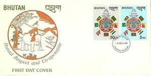 Bhutan - Mutual Respect & Co-Operation 1985 First Day Cover