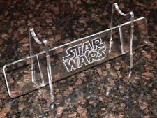 Adj Acrylic Light saber display stand holder w engraved Star Wars image