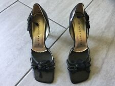 Roland Cartier Ladies Black Heeled Strappy Shoes Size 37 / 4. Great Condition.