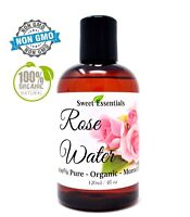 Organic Rose Water | 4oz | Chemical Free | Imported from Morocco | 100% Pure