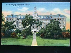 Vintage Postcard>1941>Gifford Hall>Middlebury College>Middlebury>Vermont
