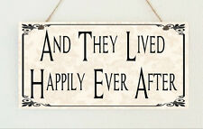 Happily Ever After Sign Plaque Gift Chic Present Wedding Marriage Shabby Mr&Mrs