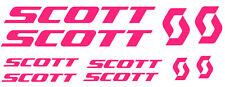 6 pegatinas de vinilo Rosa fluorescente Scott  para bicicleta,  no 590