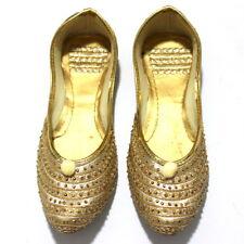 Women mojari jutti traditional punjabi khussa indian shoes flip flop US size 10