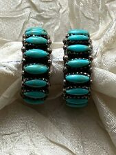 New ListingVintage Native American Sterling Silver 925 Earrings - Turquoise beads