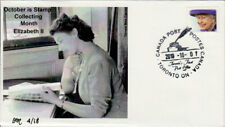 October Stamp Collecting Month Queen Elizabeth II cover numbered 4 of 18