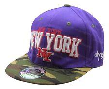 Mens Ladies New York NY Snapback Baseball Cap Camouflage Peak Adults 6 Panel Hat