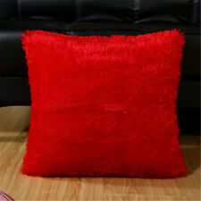 Hot Home Decorative Decoration Plush Square Pillow Case Fur Fluffy Cushion Cover