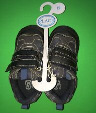 NEW! TCP Boys Size 8 Blue Fasten Shoes Non-Marking Suede Gift! Nice $19.95