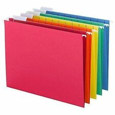 Smead Hanging File Folders, 1/5 Cut Tab, Letter Size Assorted, 25