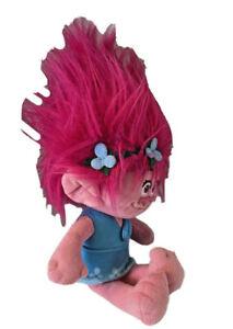 "Dreamworks Princess Poppy Plush Stuffed Toy 15"" Trolls Doll Pink Hair"