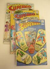 GIANT SUPERMAN DC Comics Book LOT 221, 222, 227