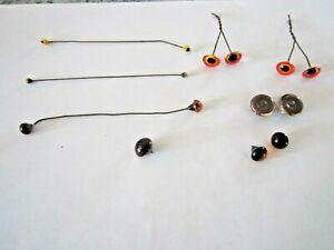 7 Pair & 1 Single Elwood Glass Eyes for Taxidermy or Toy Bears Animals Birds