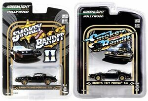 Greenlight 1/64 Smokey and the Bandit Set 1977 and 1980 PONTIAC TRANS AM New