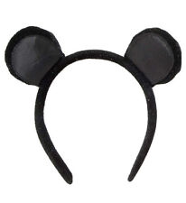 MOUSE EARS HEAD BAND MINNIE MOUSE MICKEY MOUSE SPARKLY SOFT VELVET